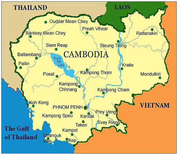 Cambodia Map Oliver S Crocco - Cambodia map