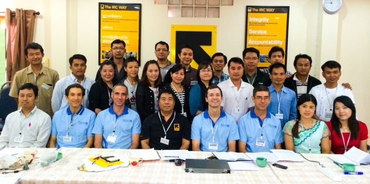 Payap University faculty members with IRC partners and trainers in Mae Sot.
